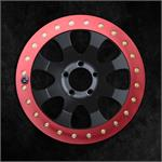 Red Anodized Slim Ring on Black Finish Wheel