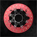 Red Anodized Rock Ring on Graphite Finish Wheel