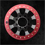 Red Anodized Slim Ring on Graphite Finish Wheel