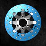 Blue Anodized World Series Ring on Satin Finish Wheel