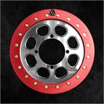 Red Anodized Slim Ring on Polished Wheel